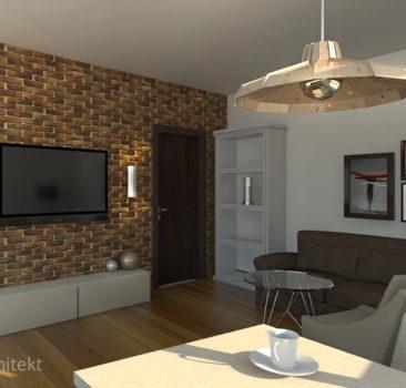 salon, pokój dzienny w apartamencie
