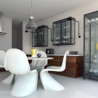 dom prywatny, kuchnia, jadalnia w kuchni