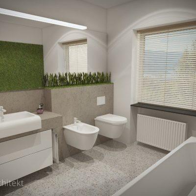 łazienka, duże łazienkowe lustro, aranżacja łazienek Poznań