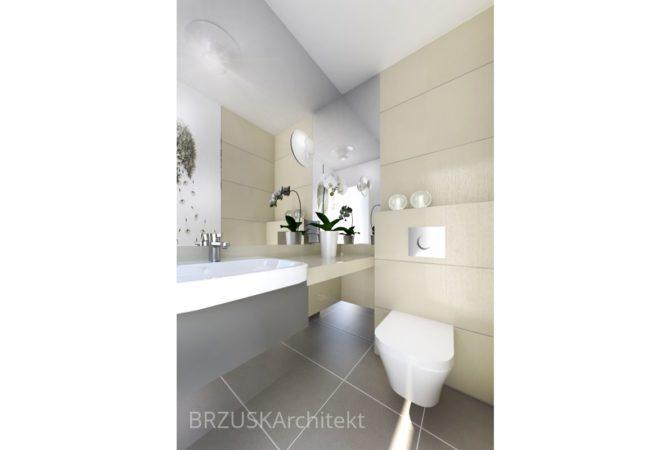 niewielka nowoczesna łazienka