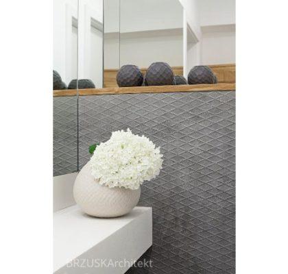 11 transformacja łazienka lustra na ścianie popiel, projekt Alicja Brzuska