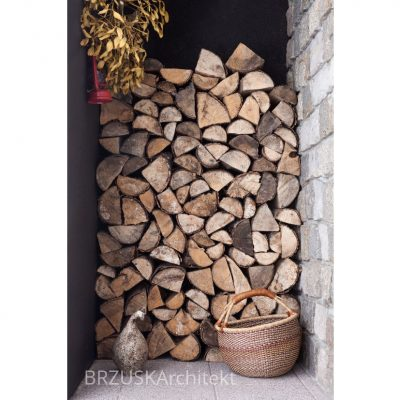 sposób na drewno do kominka przedsionek wiatrołap
