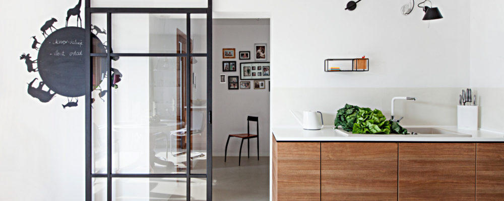 s projekt kuchni Poznan szklane przesuwna drzwi