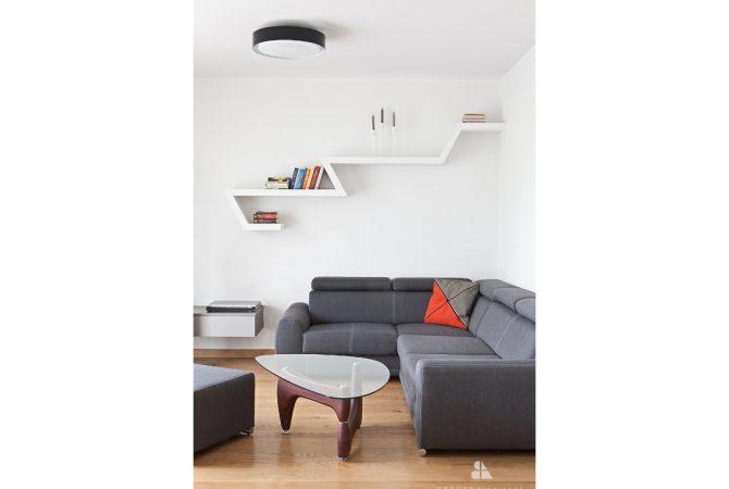 projekt salonu apartament na wynajem