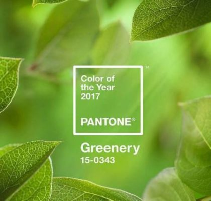 Pantone color 2017 greenery