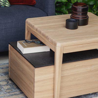 dom 2019 stolik kawowy drewno łupek